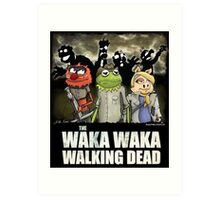 The Waka Waka Walking Dead Art Print