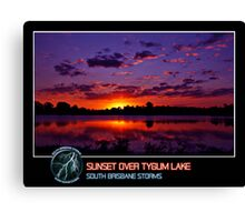 Branded: Sunset over Tygum Lake Canvas Print
