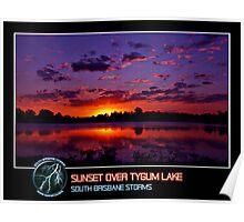 Branded: Sunset over Tygum Lake Poster