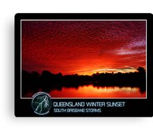 Branded: Queensland Winter Sunset Canvas Print