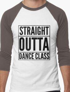 Straight Outta Dance Class (Black on transparent) Men's Baseball ¾ T-Shirt
