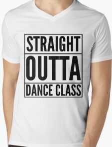 Straight Outta Dance Class (Black on transparent) Mens V-Neck T-Shirt