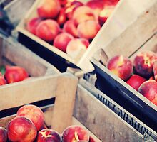 Harvest Peaches, Farm Stand in Virginia by edarlingphoto