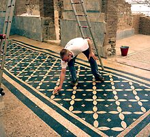 Ephesus: cleaning the mosaics by Quixotegraphics