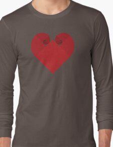Golden Spiral Heart - No Outline Long Sleeve T-Shirt