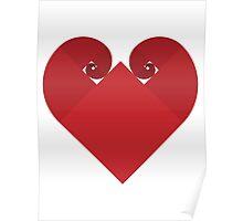 Golden Spiral Heart - No Outline Poster