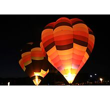 Glowing Hot Air Balloons Photographic Print