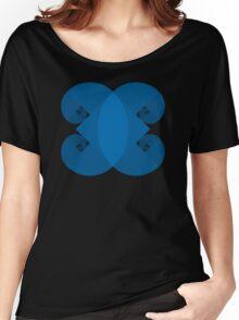 Golden Spiral 4 Arm Pattern - Blue Women's Relaxed Fit T-Shirt