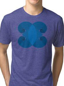 Golden Spiral 4 Arm Pattern - Blue Tri-blend T-Shirt