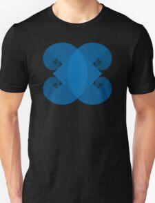 Golden Spiral 4 Arm Pattern - Blue Unisex T-Shirt