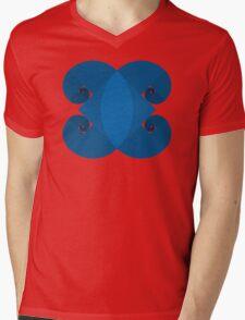 Golden Spiral 4 Arm Pattern - Blue Mens V-Neck T-Shirt