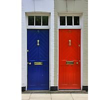 Two Doors, Two Colors Photographic Print