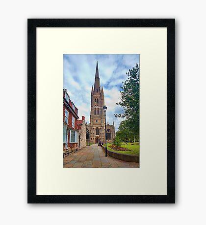 St Wulfram's Church, Grantham. Framed Print
