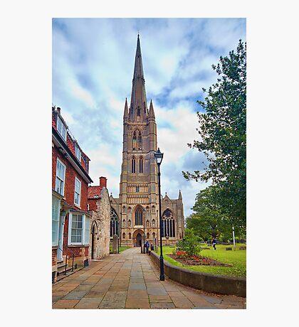 St Wulfram's Church, Grantham. Photographic Print