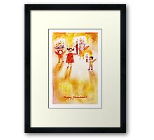 Happy Hanukkah! Framed Print