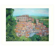 Soriano nel Cimino, Italy Art Print