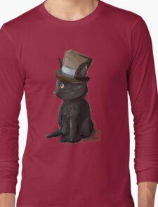 Cat In A Hat Gentleman Kitty Long Sleeve T-Shirt