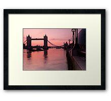 Tower Bridge Sunrise Framed Print