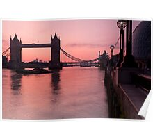 Tower Bridge Sunrise Poster