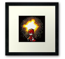 Calvin And Hobbes Superhero Framed Print