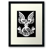 U.N.S.C.D.F. Insignia (White Logo) Framed Print