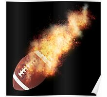 Football Flames Poster
