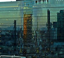 Reflections of a city Awakening. by Julie Sleeman