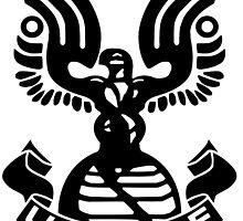 Halo Artwork - U.N.S.C.D.F. Insignia (Black Logo) by Fireseed-Josh