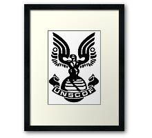 U.N.S.C.D.F. Insignia (Black Logo) Framed Print