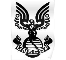 U.N.S.C.D.F. Insignia (Black Logo) Poster
