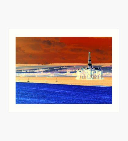 Invergordon Oil Rig Art Print