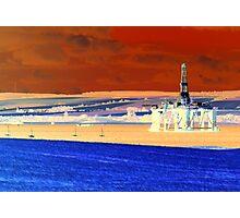 Invergordon Oil Rig Photographic Print