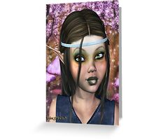 Enchanted Elf Maiden Greeting Card