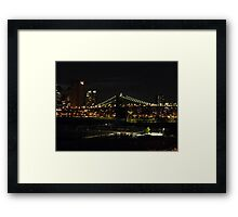 BROOKLYN BRIDGE PARK IN DUMBO Framed Print