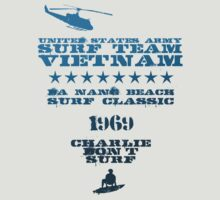 Surf team vietnam - blue - Apocalypse Now - Charlie don't surf by buud