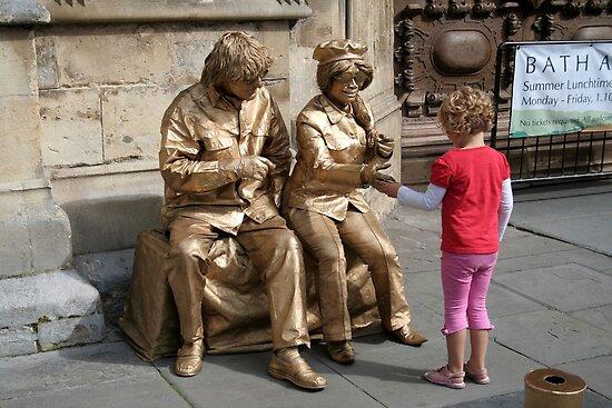 John and Yoko greet child by hjaynefoster