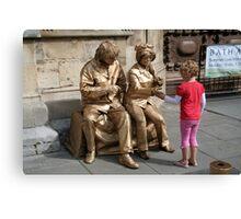 John and Yoko greet child Canvas Print
