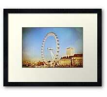 London Eye on a Sunny Winter Day Framed Print