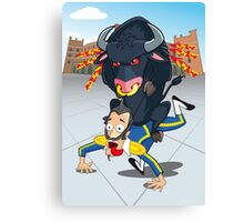 Bullfighter Canvas Print