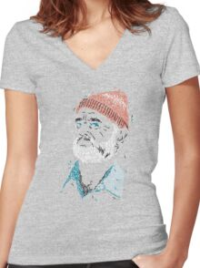 Zissou of Fish Women's Fitted V-Neck T-Shirt