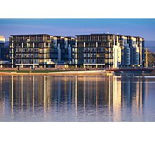 Lakefront Apartments Photographic Print