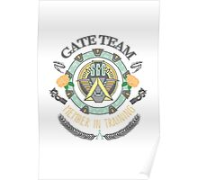 SG1 Gate Team Member In Training Colour With Gate Symbols Poster