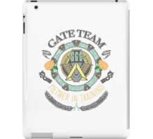 SG1 Gate Team Member In Training Colour With Gate Symbols iPad Case/Skin