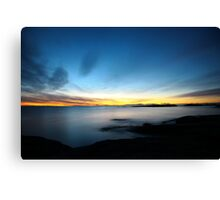 last winter sunrise. bicheno, tasmania Canvas Print