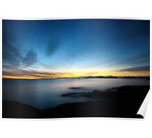 last winter sunrise. bicheno, tasmania Poster