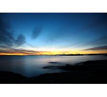 last winter sunrise. bicheno, tasmania Photographic Print
