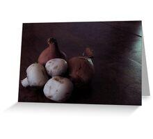 French Shallots and Mushrooms Greeting Card