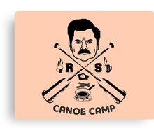Rons canoe camp Canvas Print