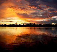 Amazon Sunset by Paul Sweany