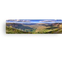 Shadows & Light - Govetts Leap, Blue Mountains, Sydney (30 Exposure HDR Panorama) - The HDR Experience Canvas Print